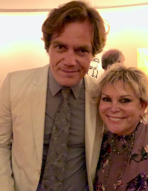 "Wendy Federman with the star of ""Frankie & Johnny,"" Michael Shannon"