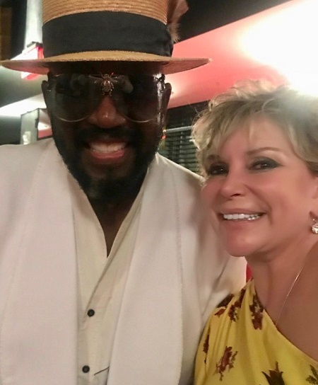 Wendy Federman with original Temptation Otis Williams