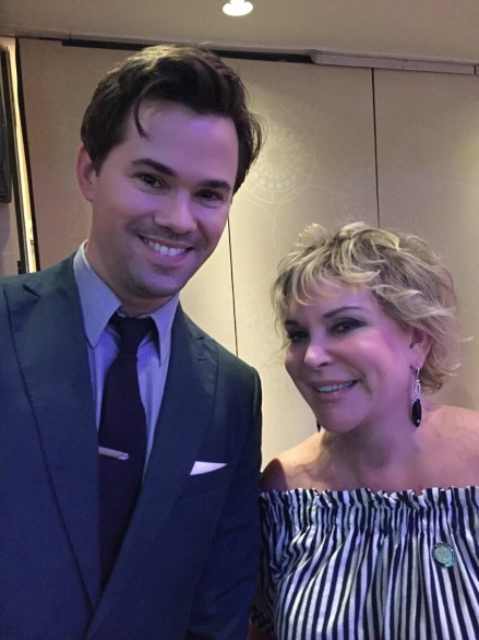 With multi Tony Award nominee and from HBO's Girls Andrew Rannells at 2017 the Drama League Awards Luncheon RESIZED