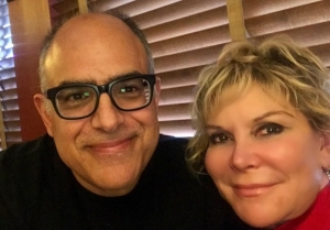 With Composer David Yazbek at the 2017 Outer Critics Circle Awards celebrating our The Band's Visit winning Best Off B'way musical RESIZED