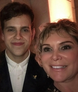 With actor Taylor Trensch at opening of Hello Dolly RESIZED